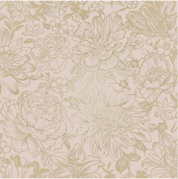 This soft floral pattern with a pink background and golf motif is striking yet very subtle and warm.