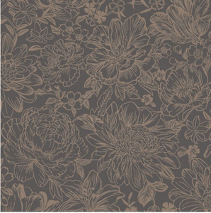 Imogen slate and gold wallpaper is a stunning floral motiv design which will add dimension and soft colour to your walls.