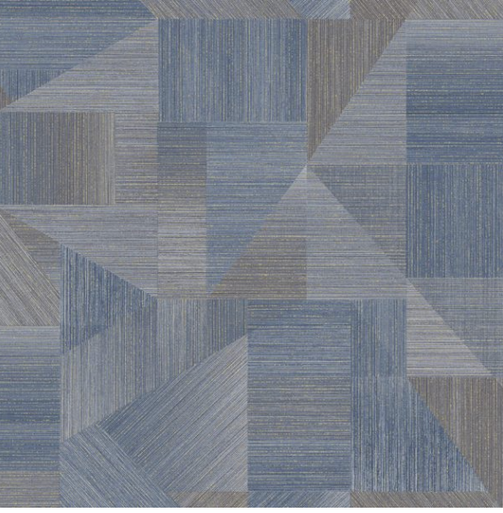 Laronda Navy is a smart geometric design with navy and grey.