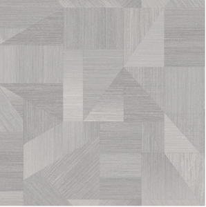 This geometric wallpaper in light grey has sharp lines and makes a statement on any wall.