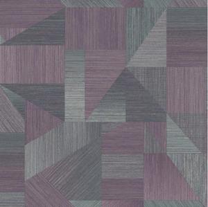 Sharp lines and angles makes this a great geometric design for your walls. Purple and grey colours are a great contrast.
