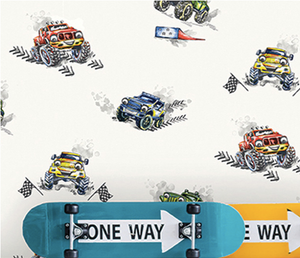 Multi Coloured Monster Trucks Wallpaper