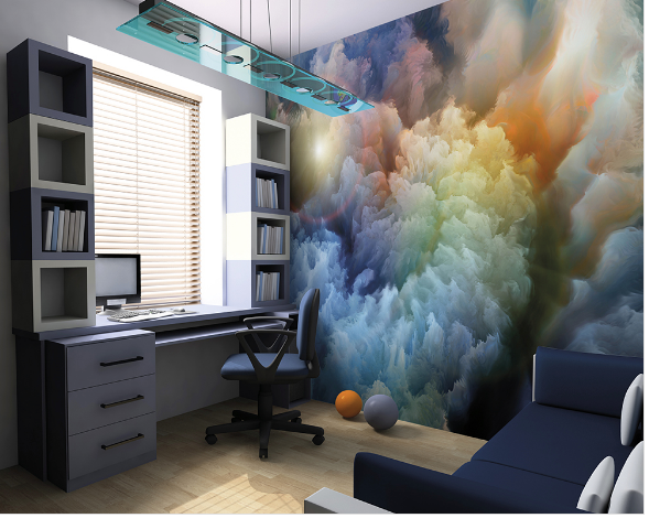 Moody Clouds Ready Made Wall Mural