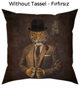 Mr Tiger Cushion without tassel
