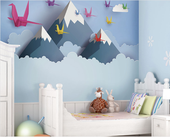 Flying over the snowy mountains and turning your child's bedroom or baby room into an incredible experience.