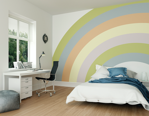 Pastel Rainbow Ready Made Wall Mural