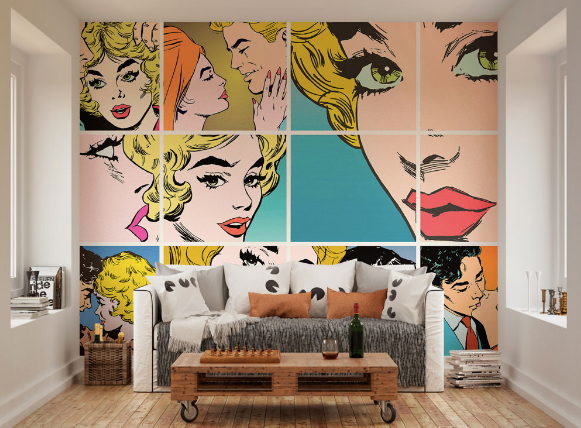 Pop Art Ready Made Wall Mural