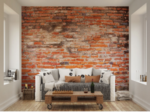 This Red Brick Wall Mural gives the real brick effect that is so popular these days. Perfect for cafes and restaurants.