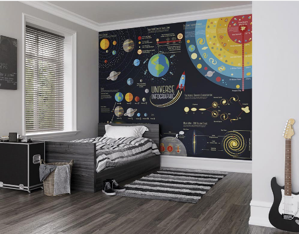 Scientific Universe Ready Made Wall Mural