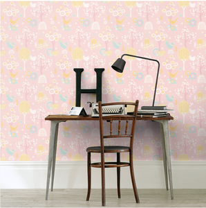 Majvillan Cherry Valley Pink Wallpaper