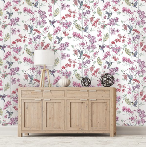 Imaginarium Charm White Wallpaper