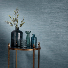 Bambara Teal Grasscloth Wallpaper