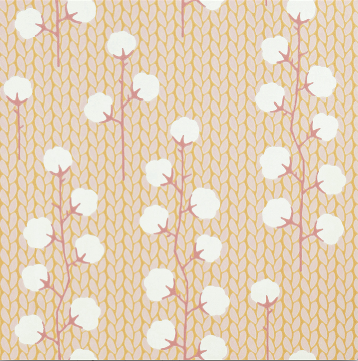Majvillan Sweet Cotton Pink Wallpaper
