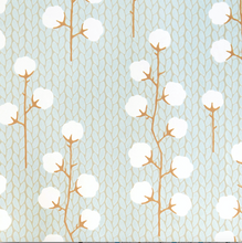 Majvillan Sweet Cotton Turquoise Wallpaper
