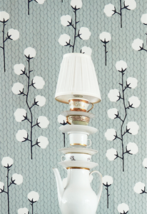 Majvillan Sweet Cotton Grey Wallpaper