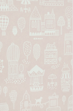 Majvillan Small Town Pink Wallpaper