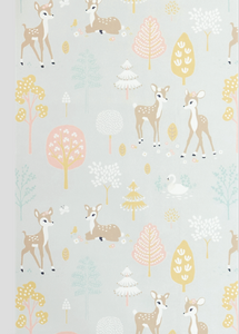 Majvillan Golden Woods Grey Wallpaper