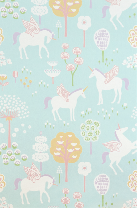 Majvillan True Unicorns Turquoise Wallpaper