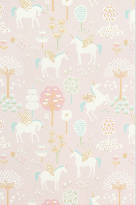 Majvillan True Unicorns Pink Wallpaper