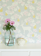 Majvillan Apple Garden Grey Wallpaper