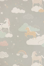 Majvillan Rainbow Treasures Grey Wallpaper