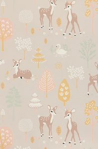 Majvillan Golden Woods Lilac Wallpaper