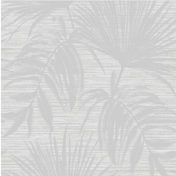 Bambara Leaf Grey Wallpaper