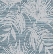 Bambara Leaf Teal Wallpaper