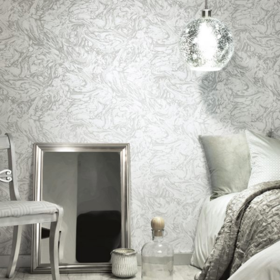 This pearl coloured wallpaper has a beauitul pattern and raised textured to add that finishing touch to your walls.