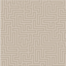 Sakkara Labyrinth Taupe Wallpaper