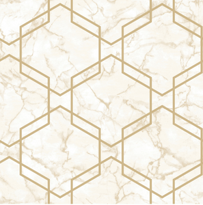 Ventura Beige/Gold Wallpaper