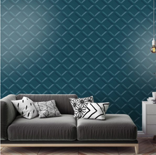 A bold 3d Teal Wallpaper in geometric design is a great addition to any wall and will make a very bold statement.