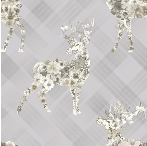 Kaleidoscope Calla Grey Beige Wallpaper