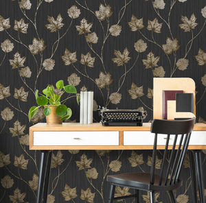 Elements Maple Black Wallpaper