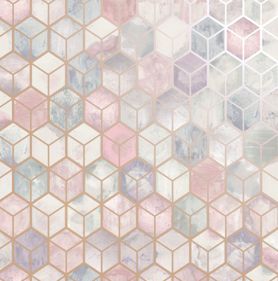 Elements Tafoni Pink Wallpaper