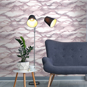 This gorgeous Pink Watercolour Wallpaper is so soft and gentle with the flowing mountains and metallic lines make this really impactful in any room.