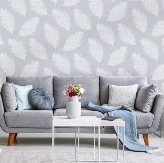 Patterdale Hawthorn Pale Blue Wallpaper