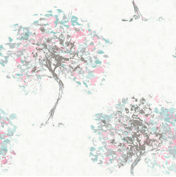 Beacon Fell Duck Egg/Pink Wallpaper