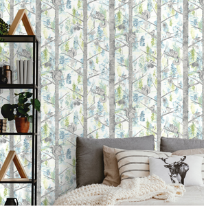 Kaleidoscope Grizedale Teal Wallpaper
