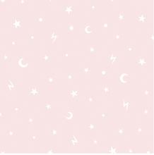 Stars and Moons Pink Wallpaper