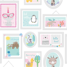 Animal Frames Teal & Pink Wallpaper