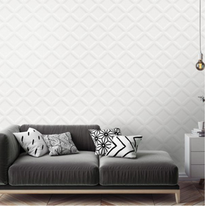 This silver grey triangle geometric design will sure make a statement to any wall or room in your home or office.