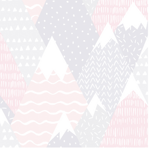 Mountains in Pink Wallpaper