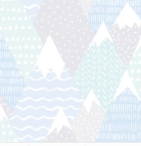 Mountains in Teal Wallpaper