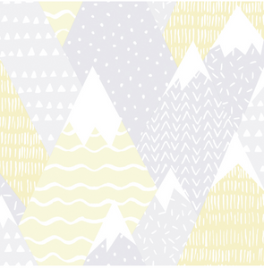 Mountains in Yellow Wallpaper