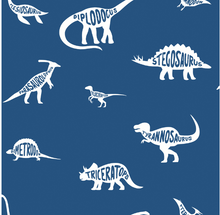 How cute is this Dino Wallpaper featuring all the types of dinosaurs found in the dictionary with the names of each in their silhouettes. The white dinos on a navy blue background is quirky and cute.