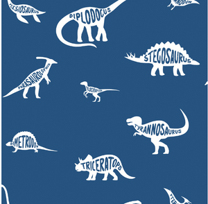 Over The Rainbow Dino Dictionary Blue Wallpaper