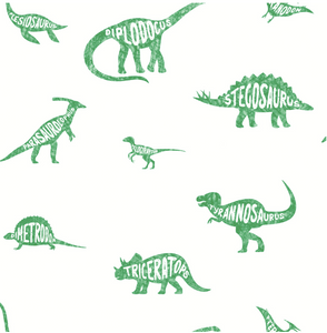 Over The Rainbow Dino Dictionary Green Wallpaper