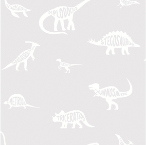 Over The Rainbow Dino Dictionary Grey Wallpaper