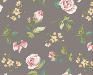 Pink Roses are so pretty, especially on this dark background making this Efflorescent Wall Mural as great floral pattern choice.